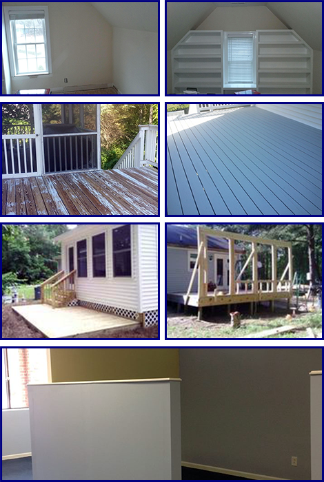Before and After Projects Plus Deck Building and Interior Painting